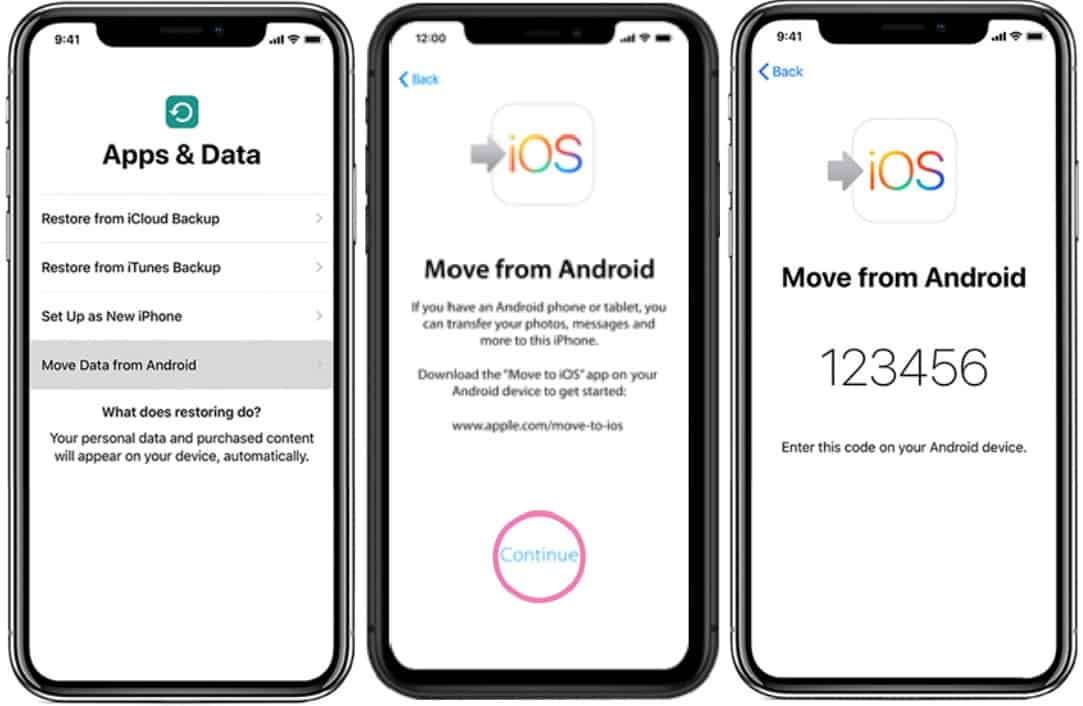 Transfer contacts from android to iphone move to ios