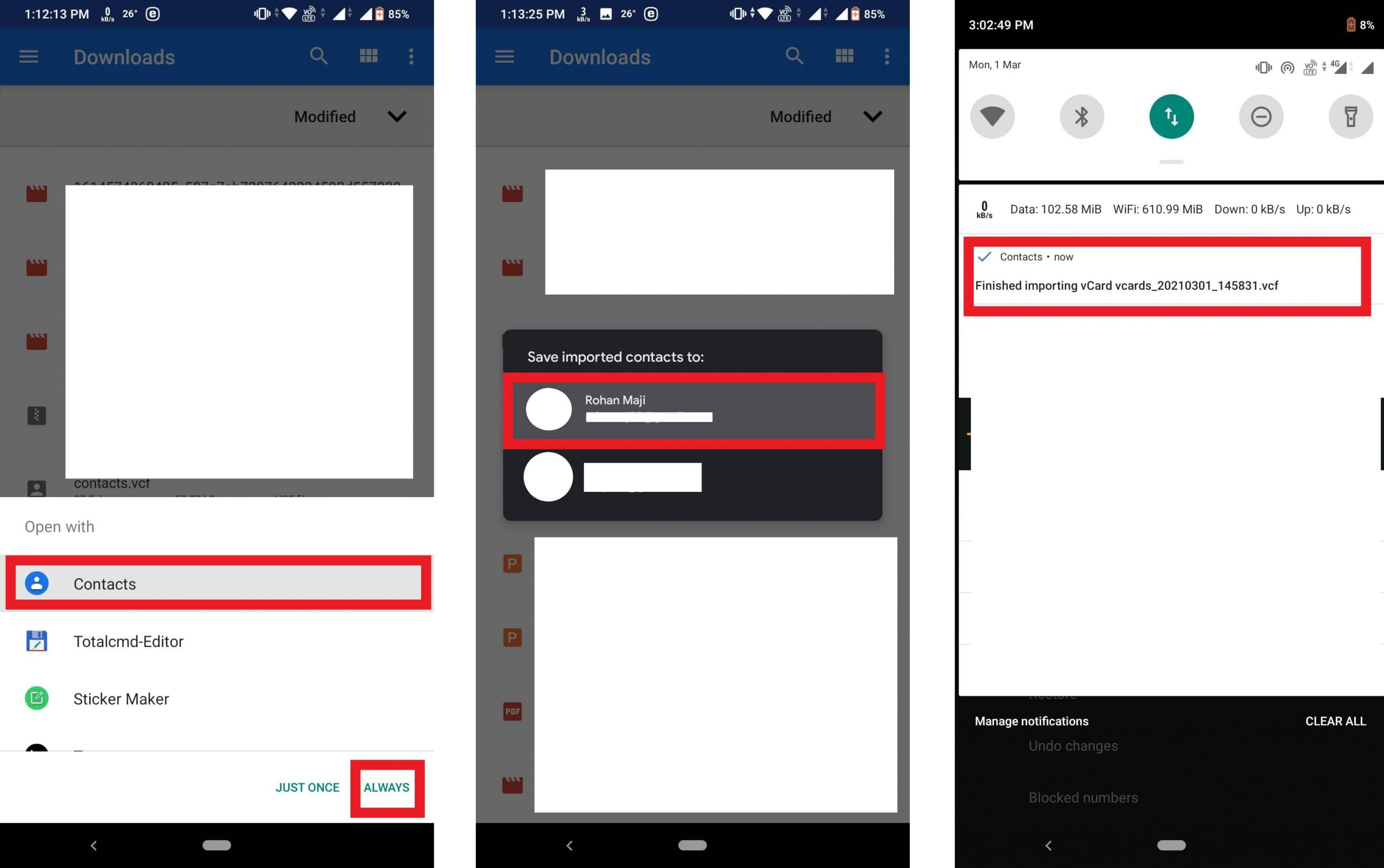 How to Transfer Contacts from iPhone to Android via Text/E-Mail