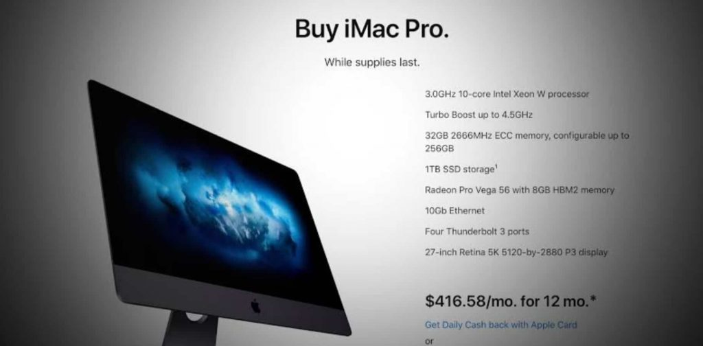 Apple is Reportedly Discontinuing the iMac Pro, Selling Only The Existing Stock