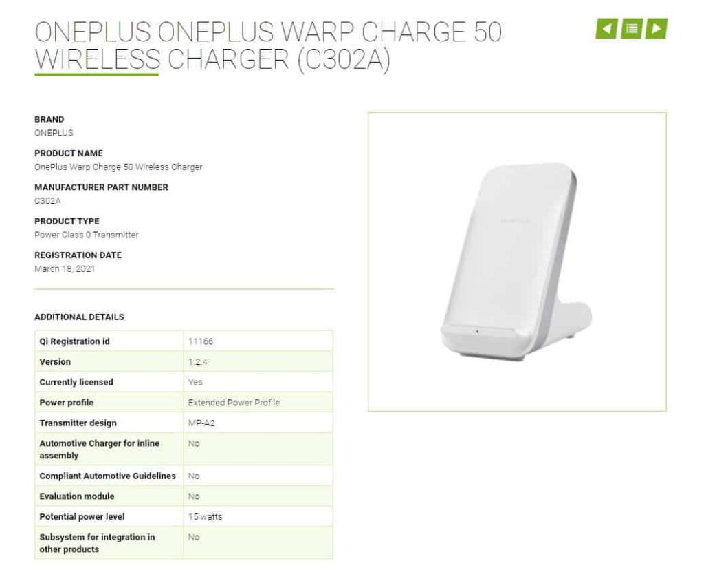 OnePlus 50W Wireless Charger Spotted on Wireless Power Consortium Ahead of Launch
