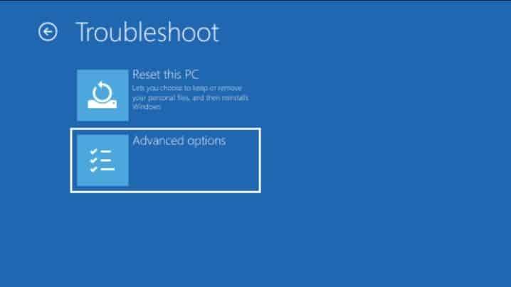 How to start Windows 10 in Safe Mode advanced option