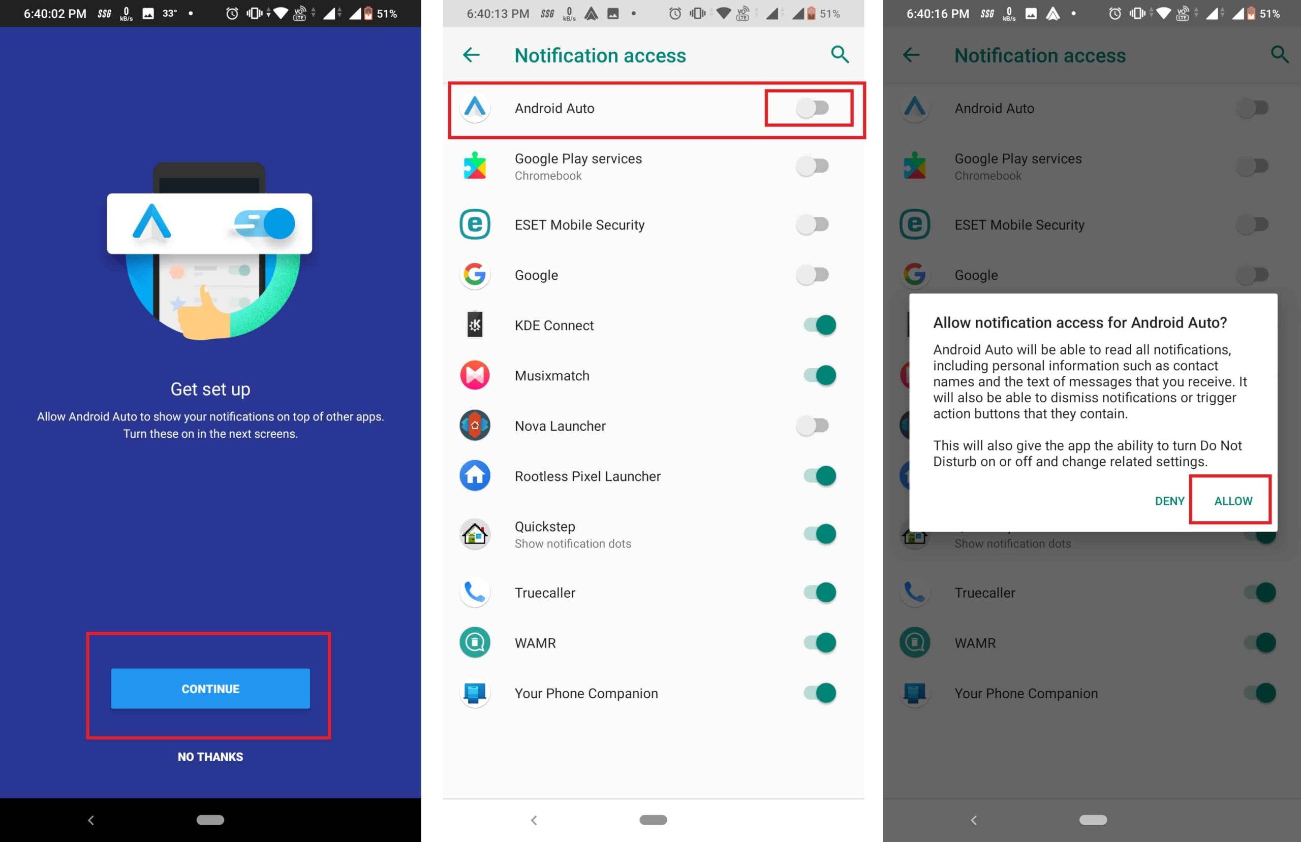 Setting up Android Auto on your smartphone