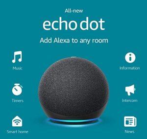 Amazon Echo Dot 4 - bluetooth speakers under $100