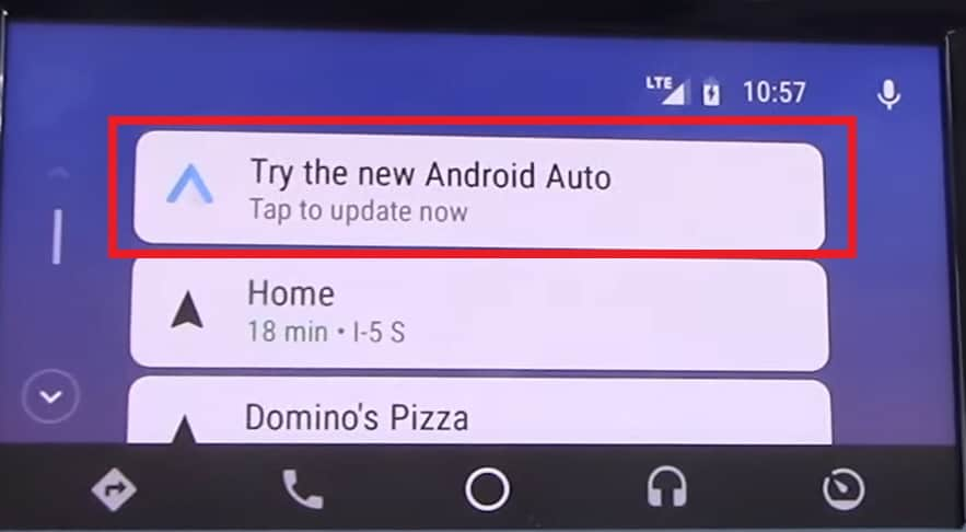 Understanding the Android Auto app screen