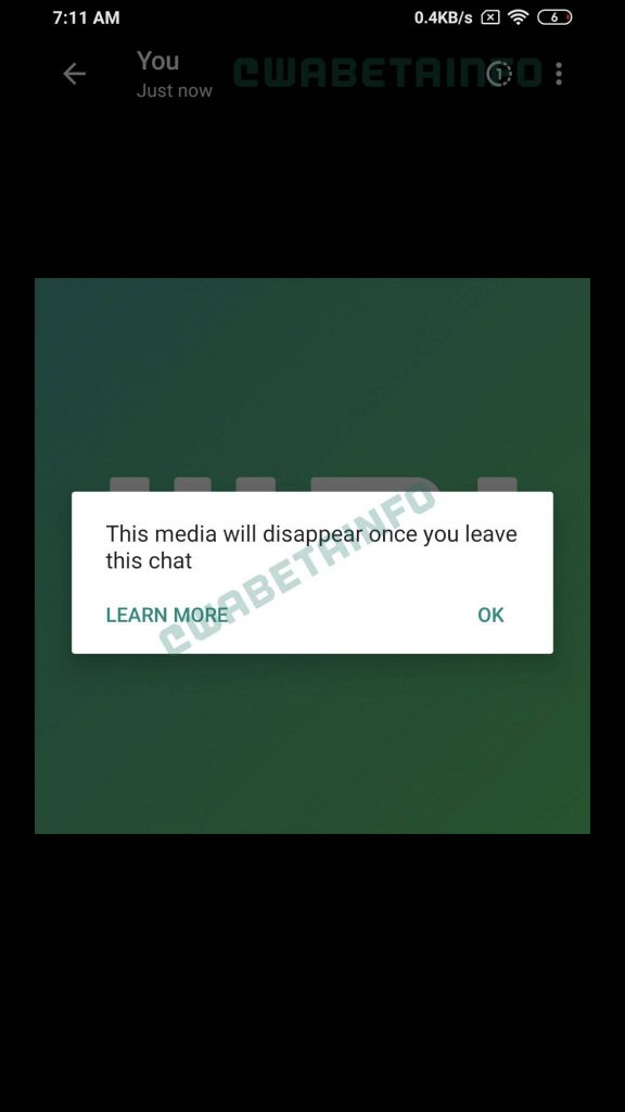 WhatsApp Could Soon Add Self-destructing Photos Feature in Future Update