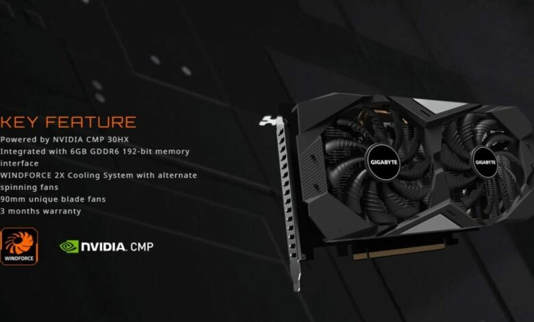 Gigabyte CMP 30HX Miner card to come with a Three-month Warranty