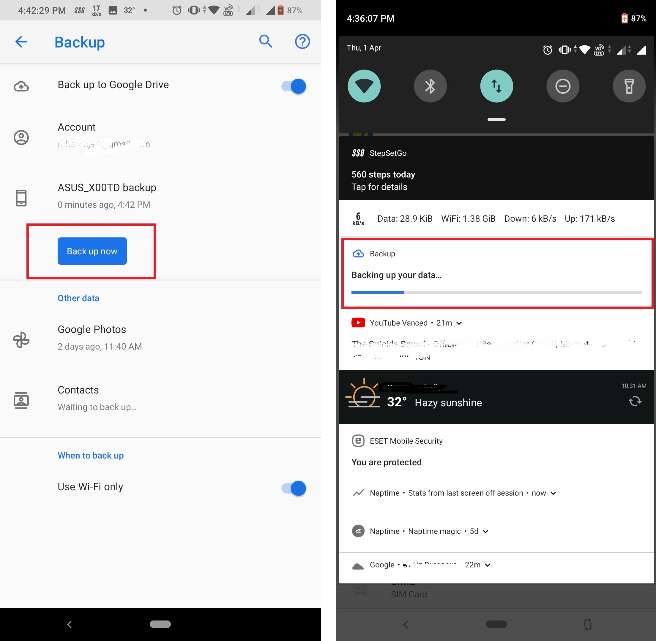 How to backup Android smartphones