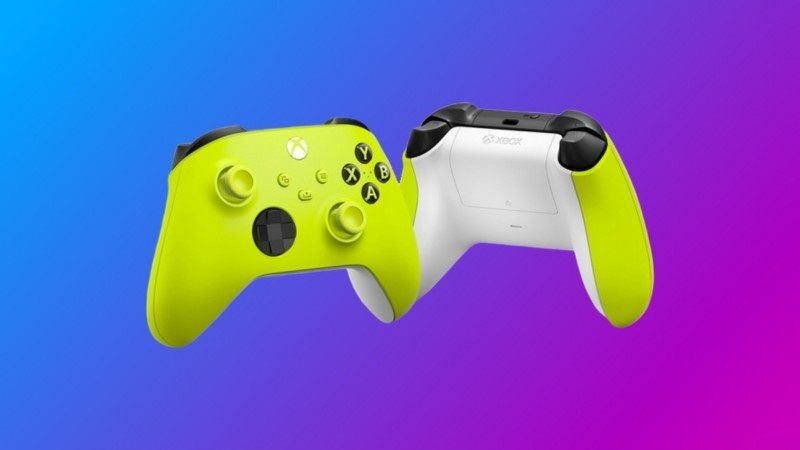 The latest addition - Electric Volt Xbox controller