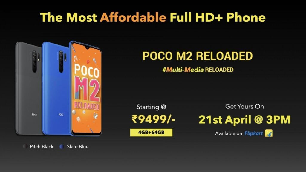 Poco India launches the most affordable FHD+ phone - Poco M2 Reloaded