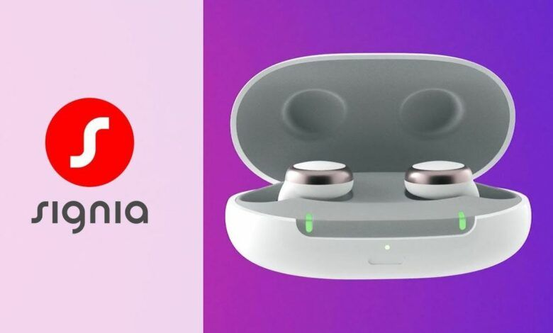 Signia Active Pro wireless earbud is a stylish hearing aid