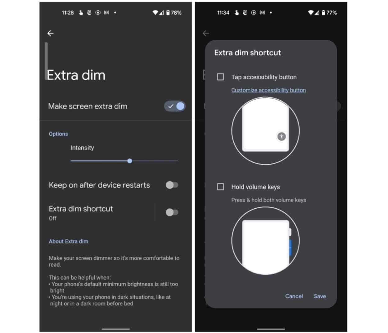 Android 12 Developer Preview 3 Gets 'Extra dim' Feature to Reduce Screen Brightness