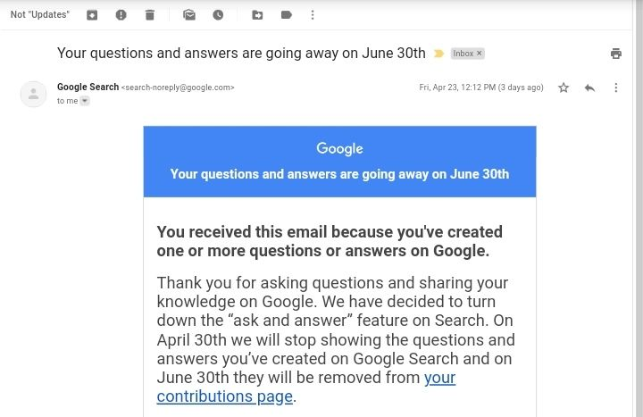 """Google to Shut Down Its """"Ask And Answer"""" Feature on Search on April 30: Here's How to Download Your Contributions"""