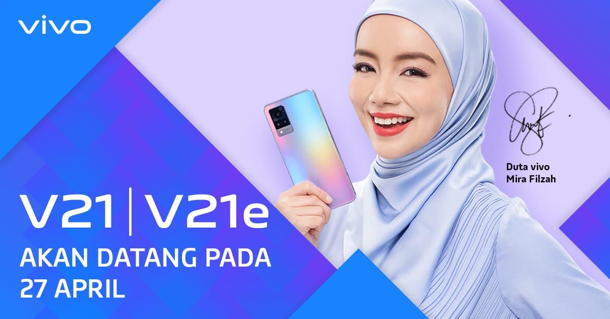 Vivo Announces the Launch of Vivo V21 and V21e for April 27