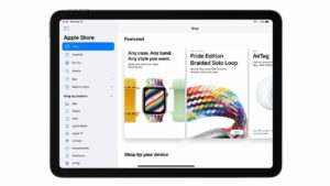 Updated Apple Store for iPadOS now comes with a new sidebar