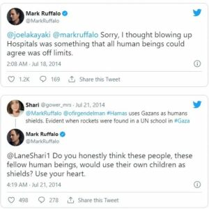 Actor Mark Ruffalo apologized online after he said Israel committed genocide