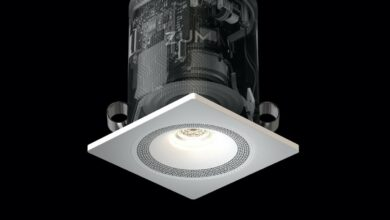 Zuma Lumisonic is a ceiling light with integrated Airplay 2 Smart Speaker