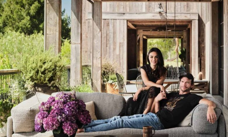 Ashton Kutcher and Mila Kunis Open Doors to Their Stunning Beverly Hills Home, Have an Inside Look