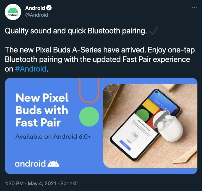 Google Accidentally Announces the Pixel Buds A-Series on Twitter, Will Come With Fast Pair