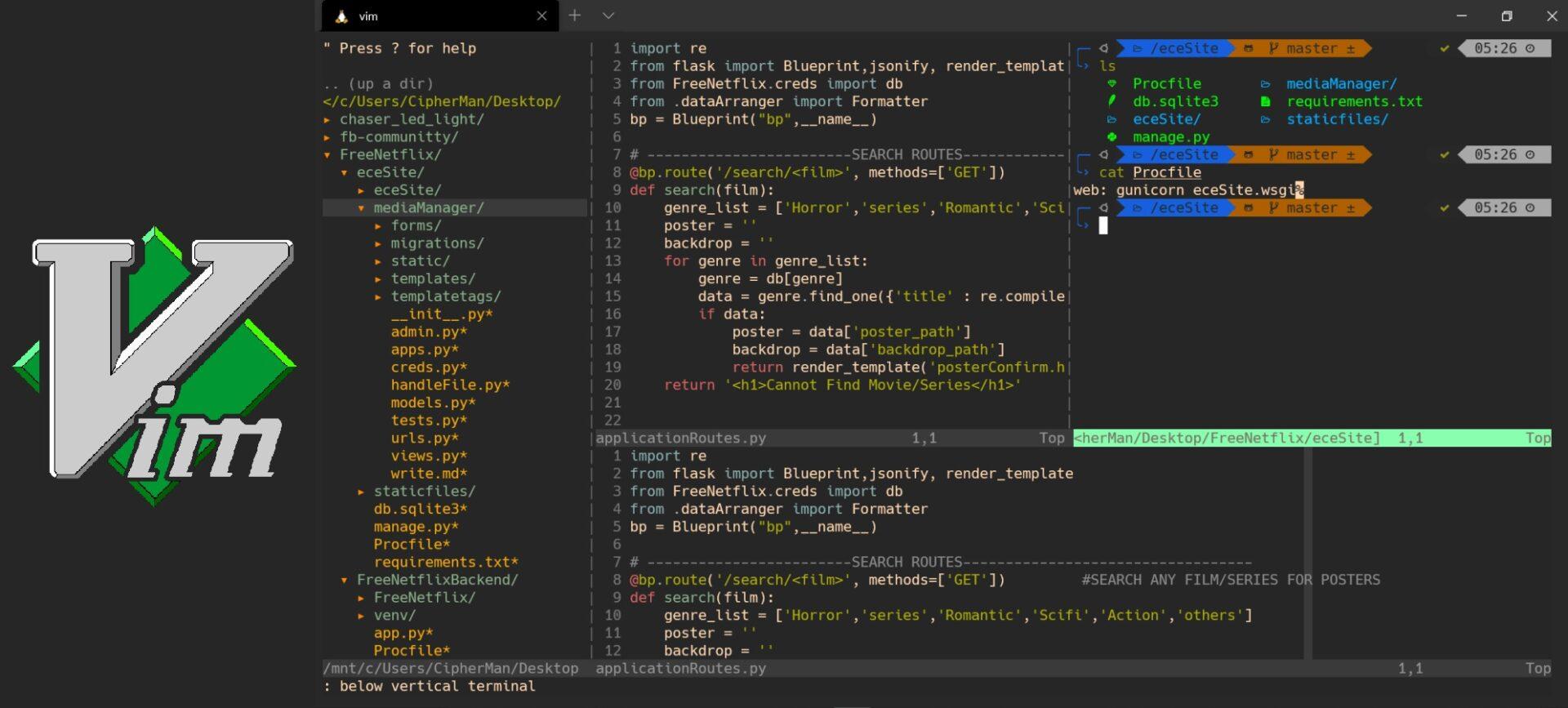 IDE for Node JS 3 Vim