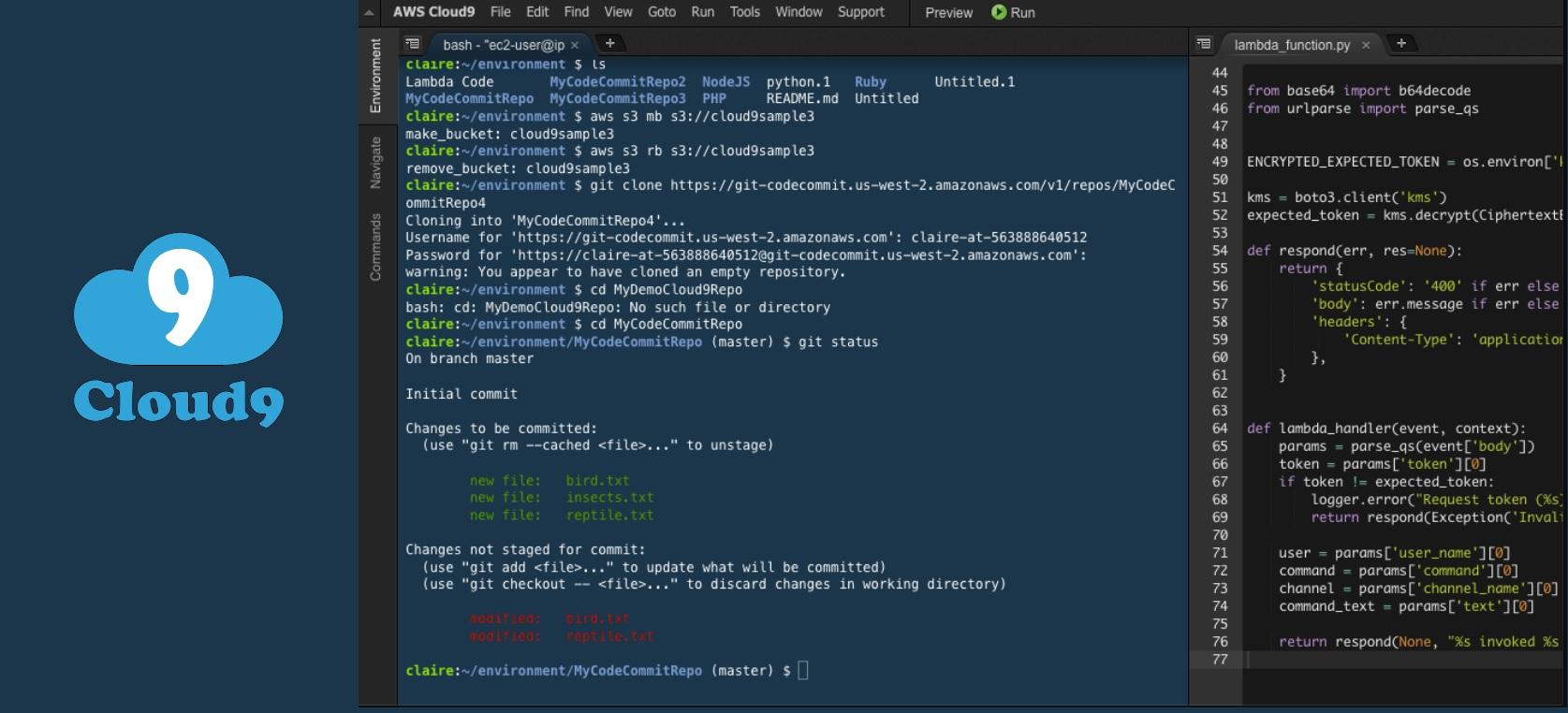 IDE for Node JS 7 Cloud9