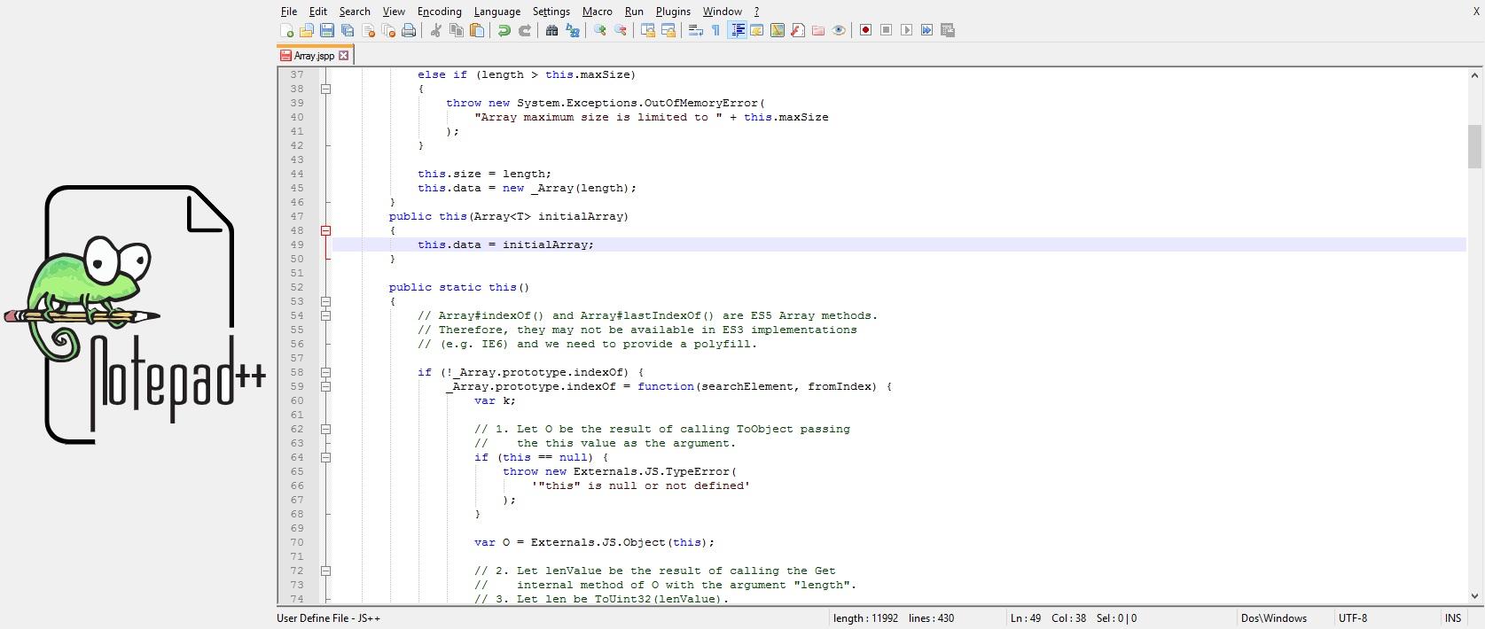 IDE for Node JS 8 Notepad++