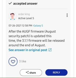 Samsung will release One UI 3.1.1 sometime in late August