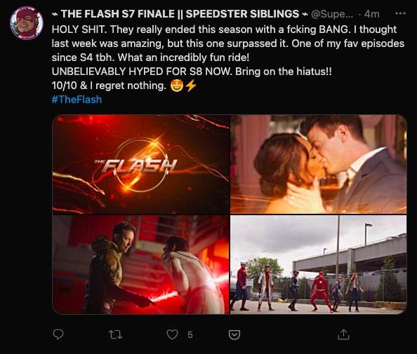 The Flash tweet