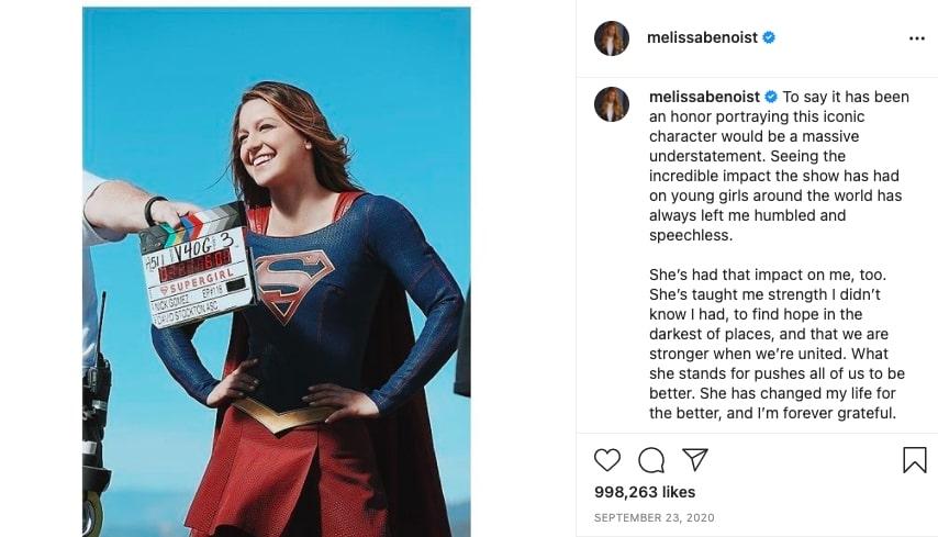 Melissa Benoist instagram post