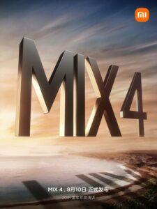 Xiaomi confirms August 10 as Mi Mix 4 release date