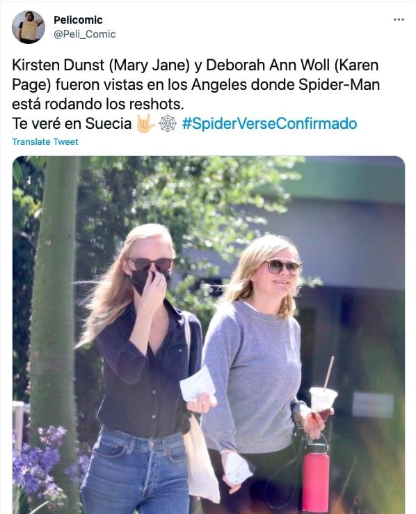 Twitter post Spider-Man No Way Home