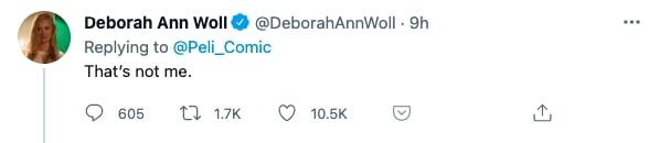 Deborah Ann Woll response