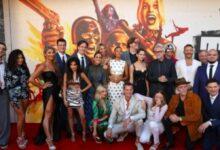 The Suicide Squad cast at the premiere