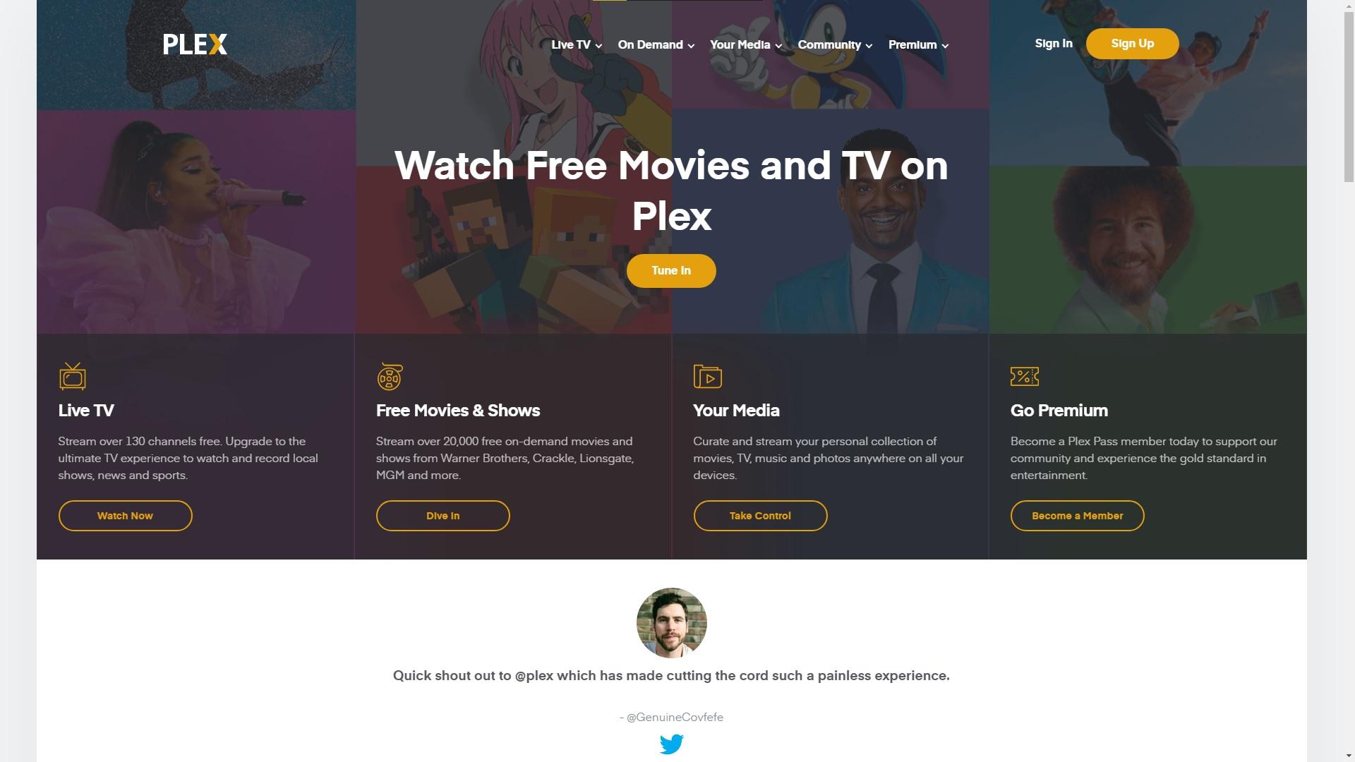 ThopTV alternative Plex TV 1