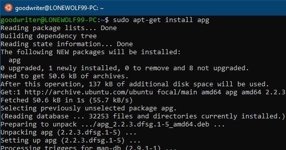 Ubuntu terminal commands and shortcuts apt-get install