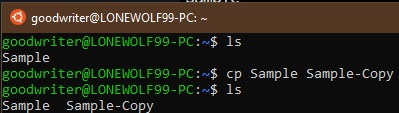 Ubuntu terminal commands and shortcuts cp