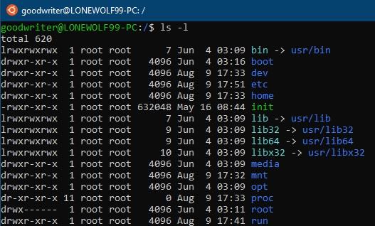 Ubuntu terminal commands and shortcuts ls