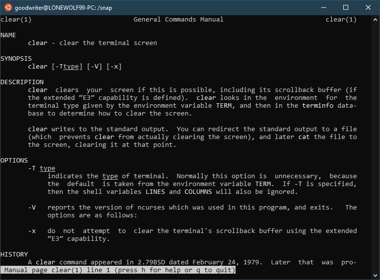 Ubuntu terminal commands and shortcuts man