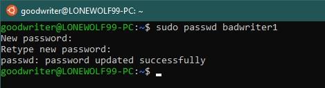 Ubuntu terminal commands and shortcuts passwd