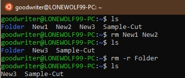 Ubuntu terminal commands and shortcuts rm