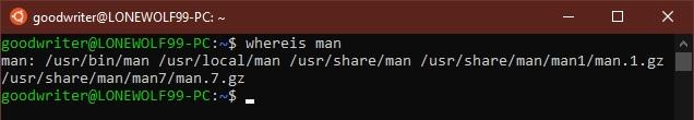 Ubuntu terminal commands and shortcuts whereis