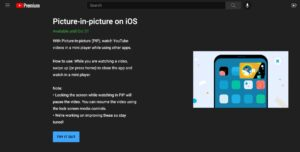 Want to use YouTube Picture-in-Picture mode on the iPhone?  Here's how to enable PiP