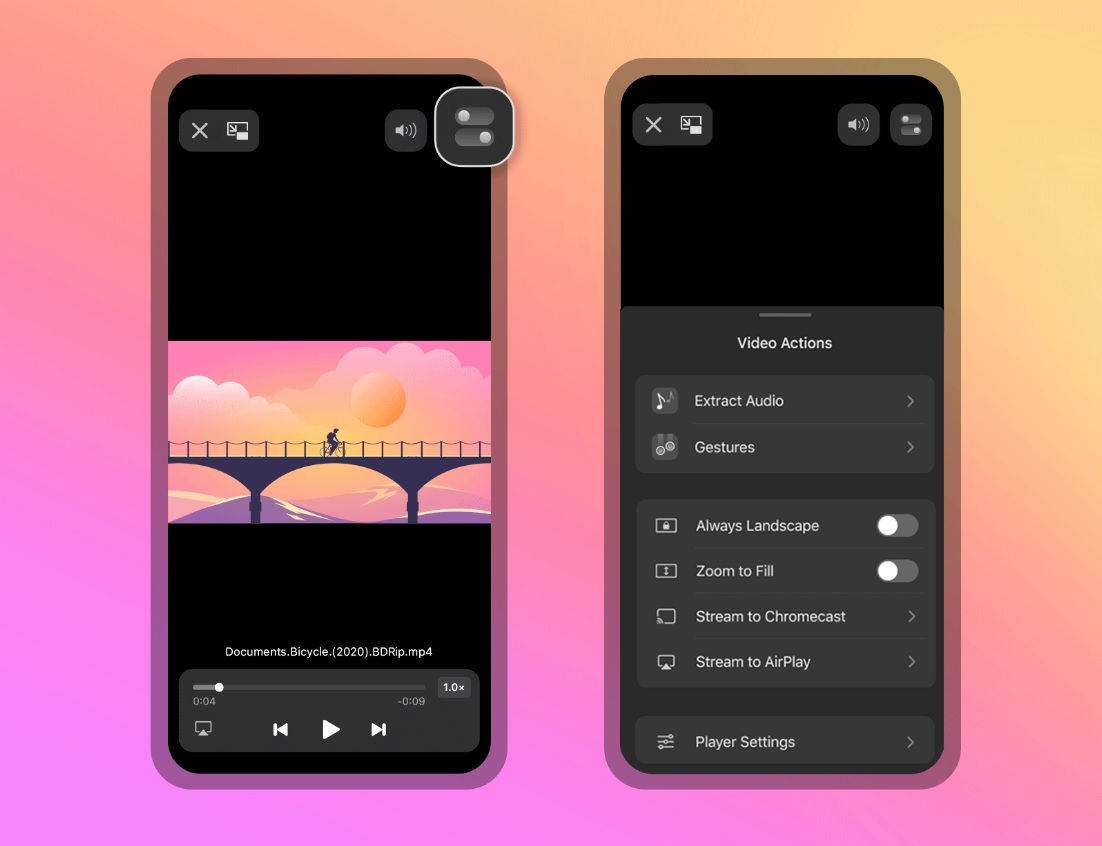 Best MKV Player for iOS Documents Media Player