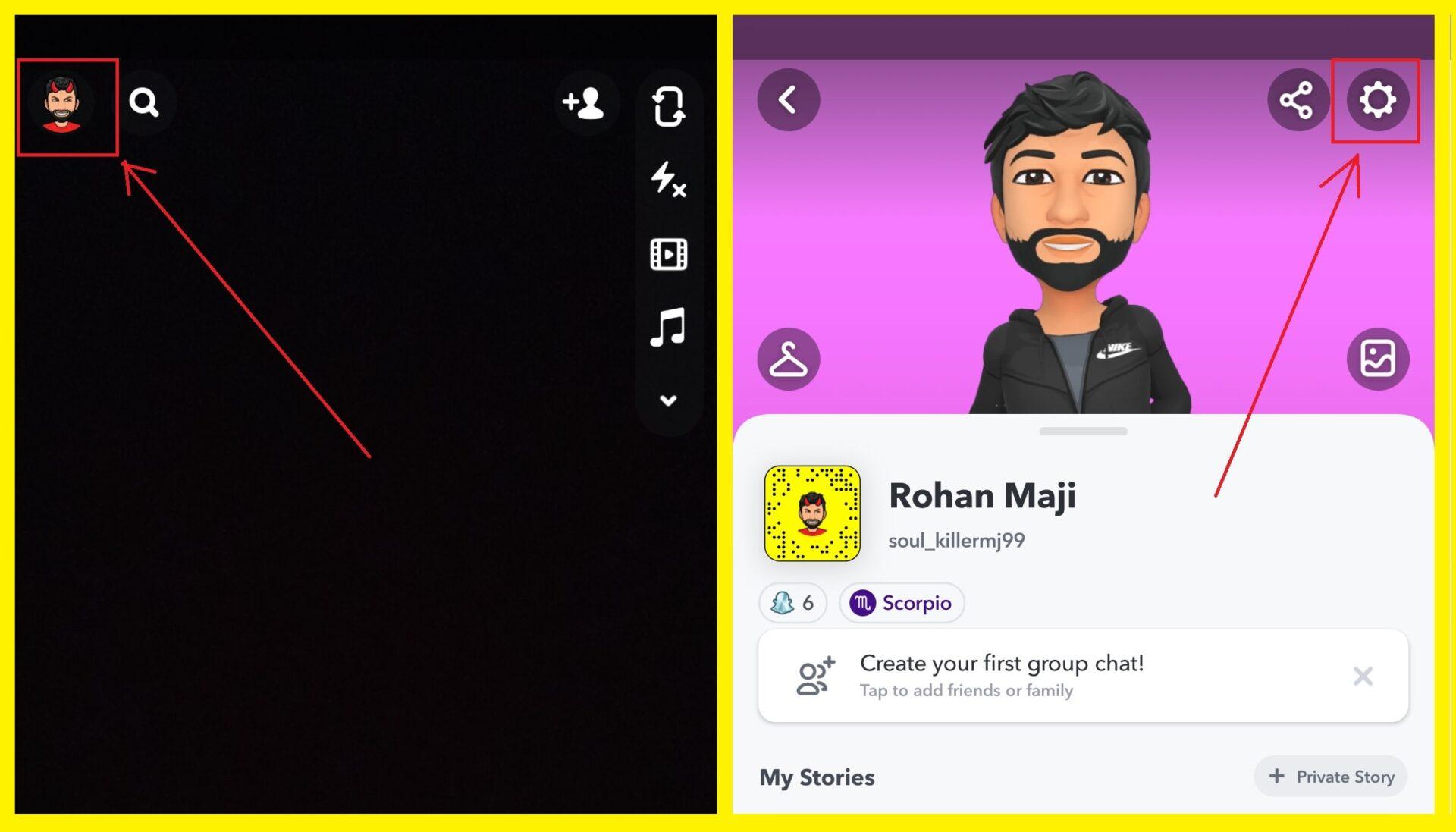 Create a public profile on Snapchat 1