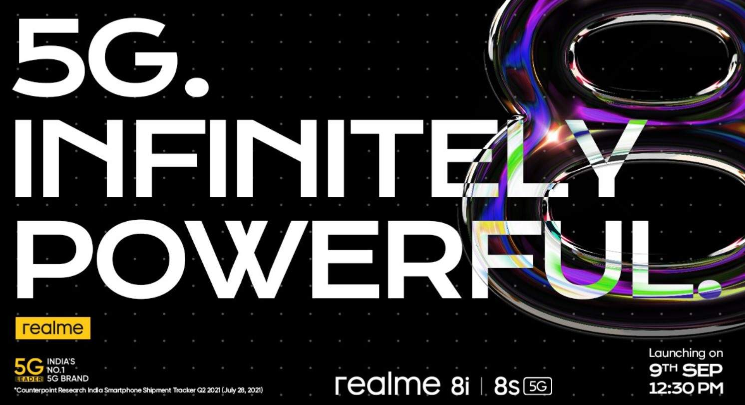 Realme 8s 5G and Realme 8i expected to arrive on September 9 (2021) with MediaTek SoCs