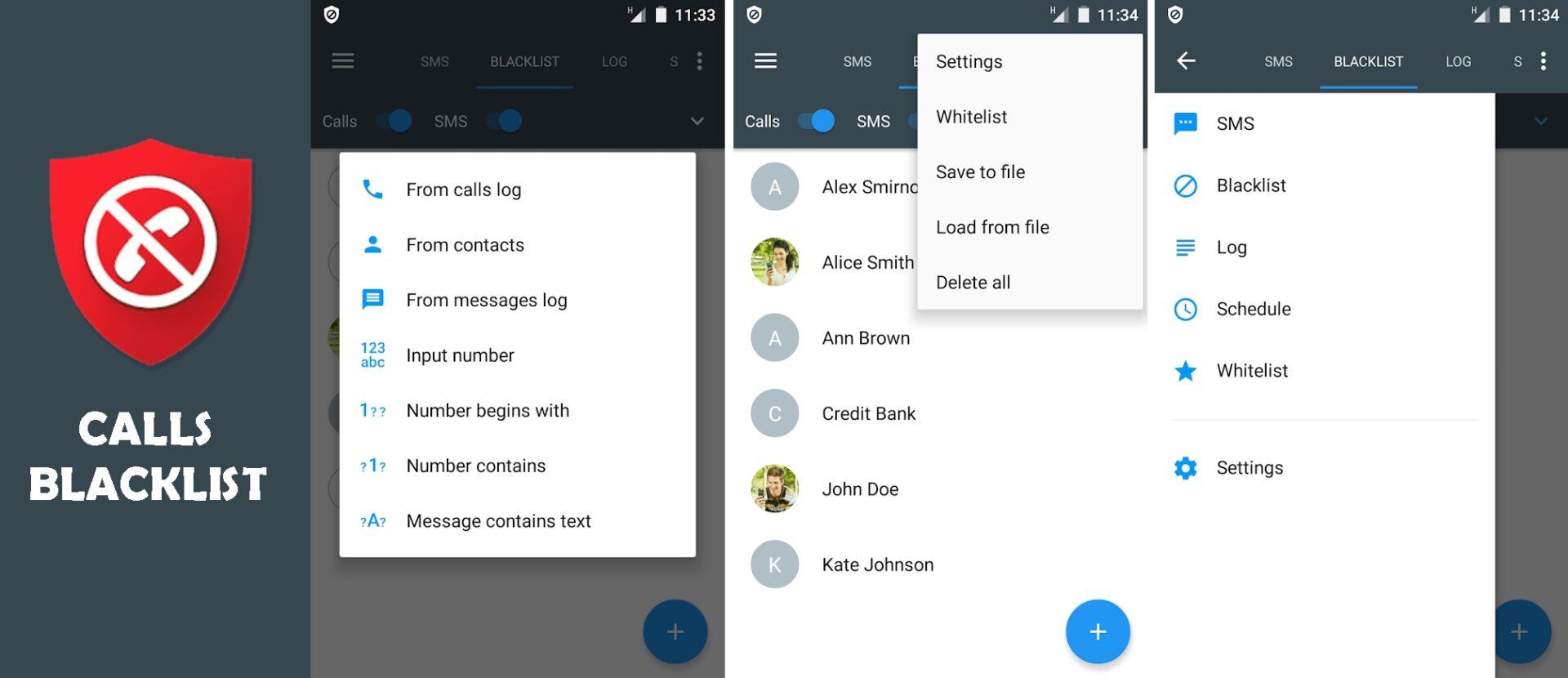 Text Blocker Apps for Android Calls Blacklist
