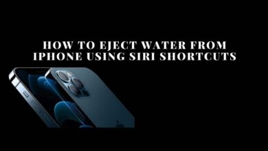 eject water from iPhone using Siri shortcuts