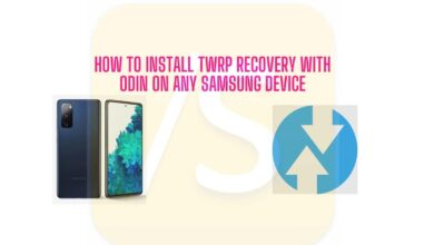 install TWRP using ODIN tool on any Samsung Device
