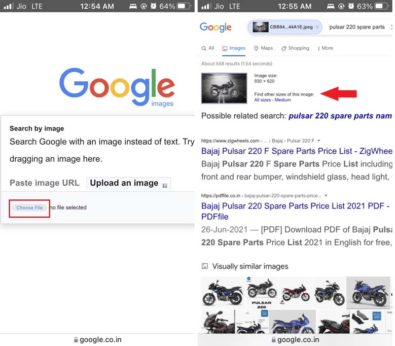 select image for reverse image search