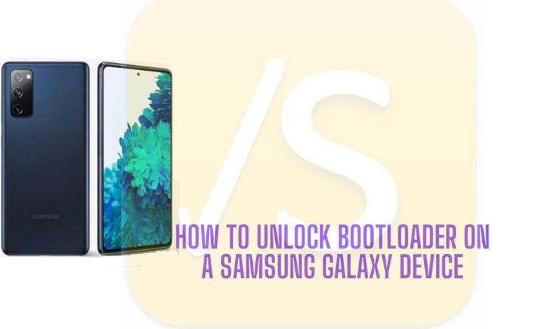 unlock bootloader samsung galaxy device