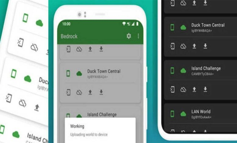 Bedrock Syncs Minecraft worlds to Google Drive on your Android devices